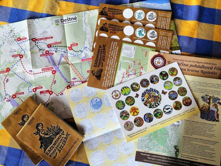 Kačenčina pohádková stezka mapa