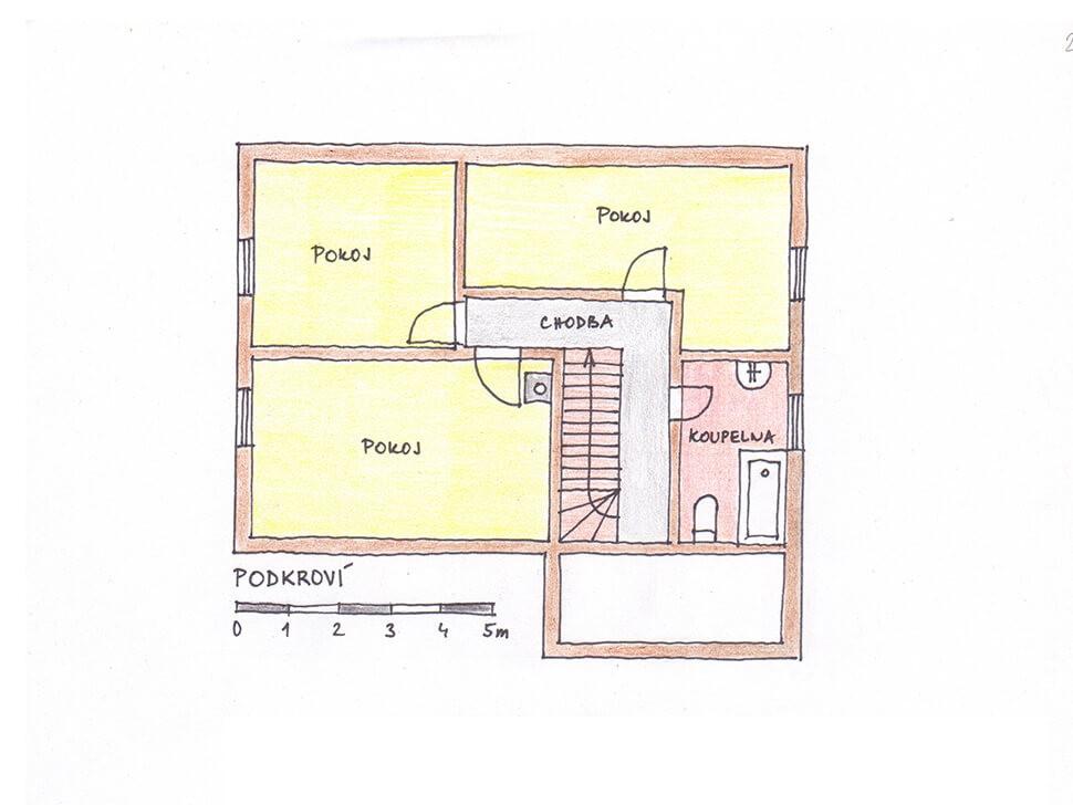 Dispozice 2 - podkroví